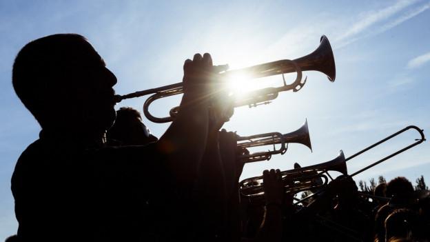 An den Musik-Kurswochen Arosa lässt sich das Hobby Blasmusik mit Ferienstimmung verbinden.