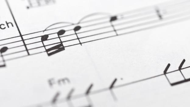 Musiknotenblatt.