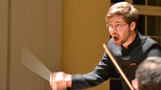 Gaudens Bieri. Seit Anfang 2018 musikalischer Leiter des Symphonischen Blasorchesters der Schweizer Armee.