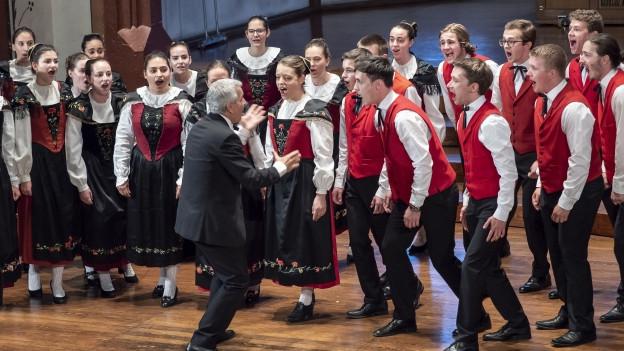 Auftritt des Vokalensembles incantanti beim Europäischen Jugendchor Festival 2018.