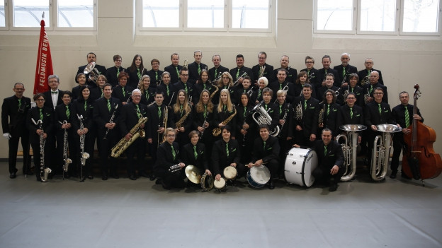 Gruppenbild der Feldmusik Bennau.