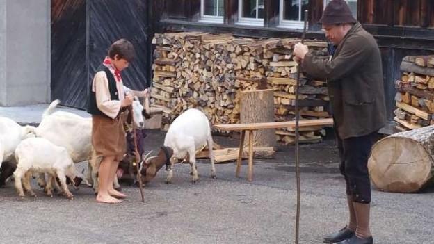 Szene aus dem Theaterstück «Der arme Mann im Tockenburg».