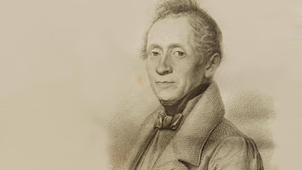 Illustration mit dem Porträt eines Mannes.