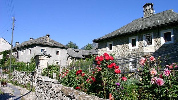 Alte Steinhäuser.