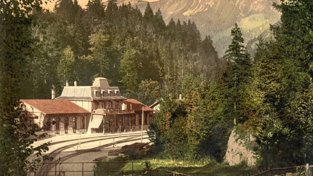 Bahnhof Brünigpass um 1900.