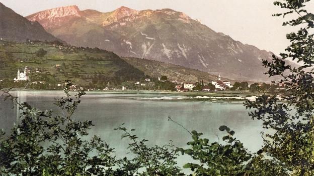 Aufnahme von Sarnen am Sarnersee um 1900.