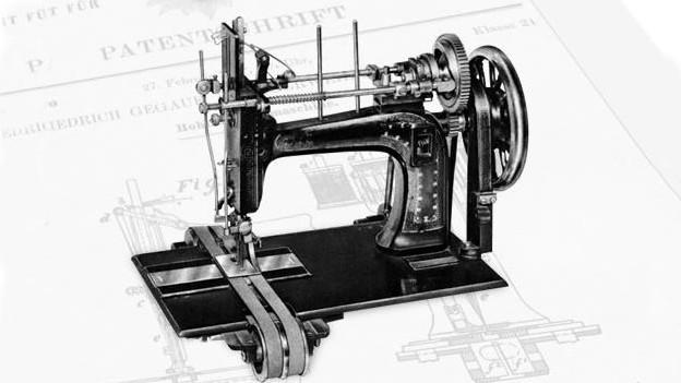 Bild einer Hohlsaum-Nähmaschine.