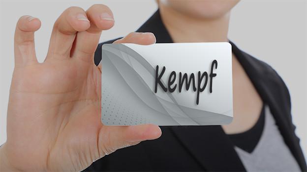 Wörtertafel mit dem Wort Kempf.