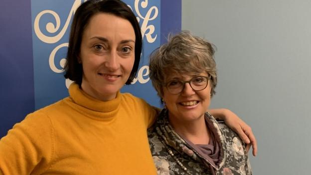 Porträt zweier Frauen.