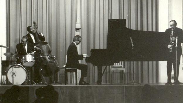 Dave Brubeck Quartet spielt in der Kongresshalle in Frankfurt.
