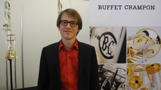 Valentin Oberson: Als Verkaufsleiter Schweiz von «Buffet Crampon» vertreibt er zehn führende Instrumentenmarken.