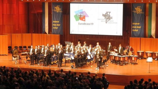 Die Brass Band Bürgermusik Luzern konnte in Montreux insbesondere mit ihrem Selbstwahlstück «King Kong on Rue Igor Stravinsky» (Paul McGhee) überzeugen.