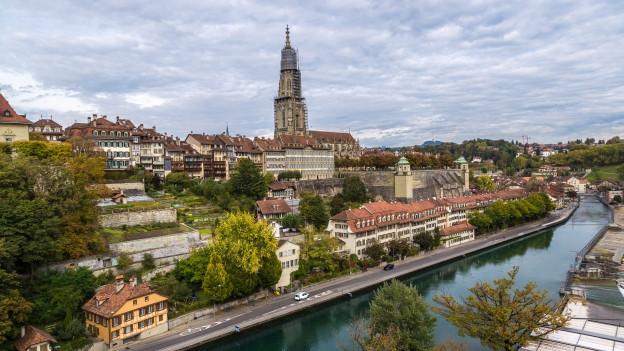 Bildaufnahme der Stadt Bern.