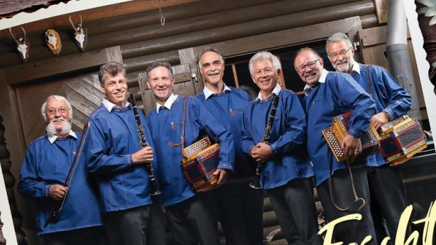 Die Kapelle Oberalp mit ihren Instrumenten.