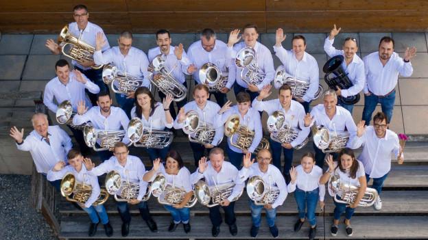 Zwanzig Euphonisten sorgen auf der CD «Epic Euphoniums» für eine geballte Ladung Euphonium-Sound.