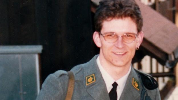 Dani Häusler als Rekrut.