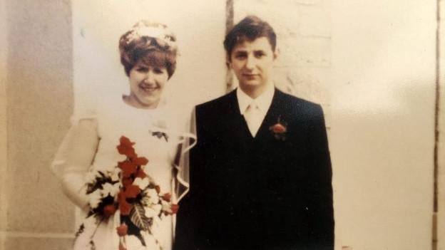 Erika und Willi Gehring bei ihrer Hochzeit 1970.