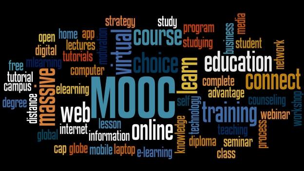 Wortwolke rund um den Begriff MOOC.