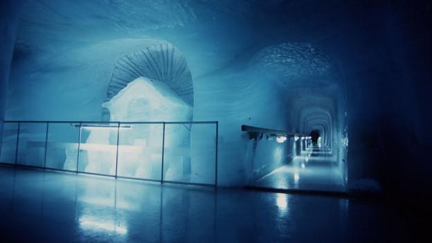 Blick in den Eispalast auf dem Jungfraujoch.