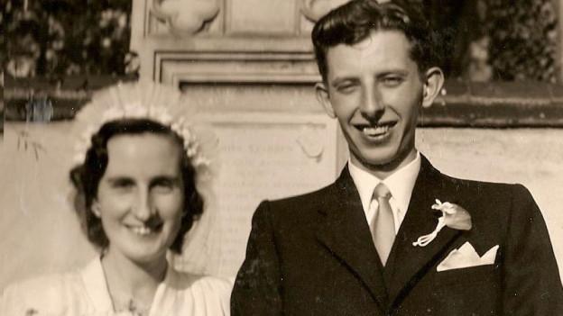 Hochzeitsfoto von Tildy und Kurt Baumann.