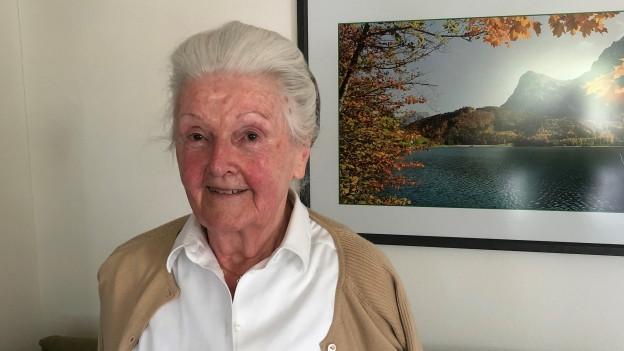 Porträt von Frieda Feldmann.