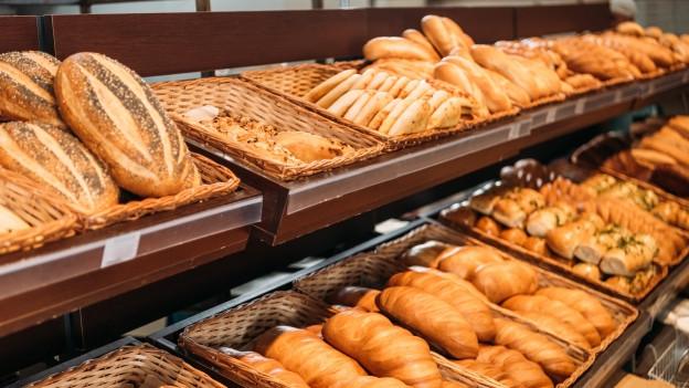 Brot in der Bäckerei.
