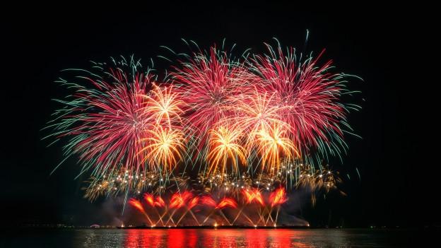Feuerwerk in der Nacht.