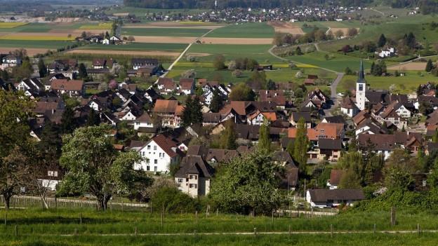 Ein Teil des geschützten Dorfkerns von Rafz.