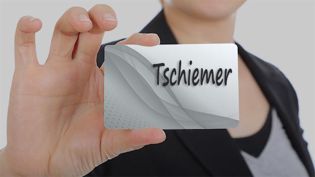 Namenstafel mit dem Namen Tschiemer.