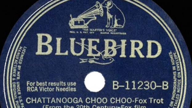 Ausschnitt der Schellack-Platte von Glen Miller.