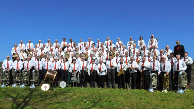 Mit rund 85 Mitgliedern ein imposantes Blasorchester: Das Veteranenspiel Kanton Solothurn.