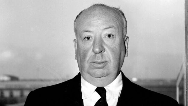 Aufnahme von Alfred Hitchcock.