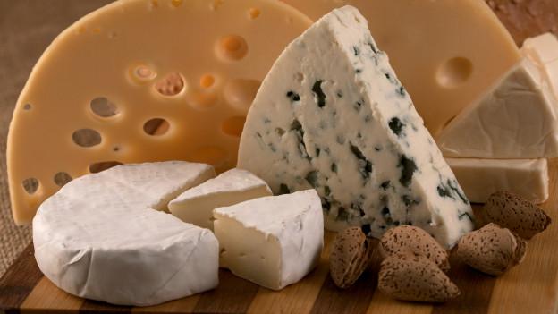Viele verschiedene Käsesorten.