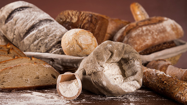 Verschiedene Brote.