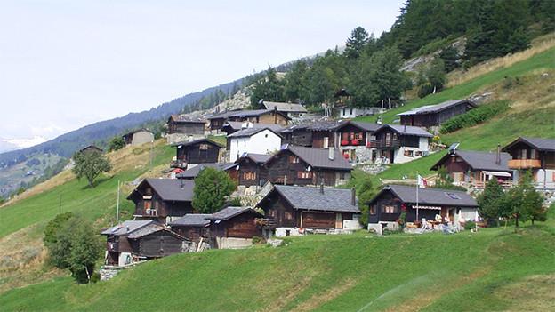 Ein Weiler auf einer Alp.