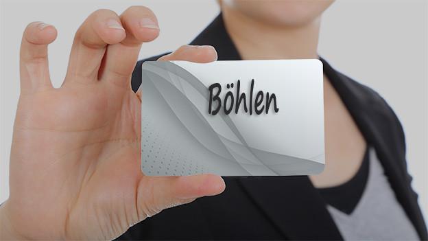 Tafel mit dem Wort Böhlen.