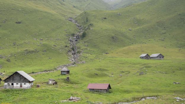 Die Bannalp mit seinem Berggasthaus.