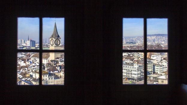 Blick auf Zürich vom Sankt Peter.