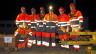 L'equipa da montaders da binaris da la Viafier retica a Tavau vitg.