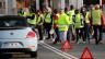 Auch in Biarritz protestieren «Gilets Jaunes» an der Zahlstelle der Autobahn.