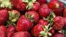 Eine Schachtel Erdbeeren.