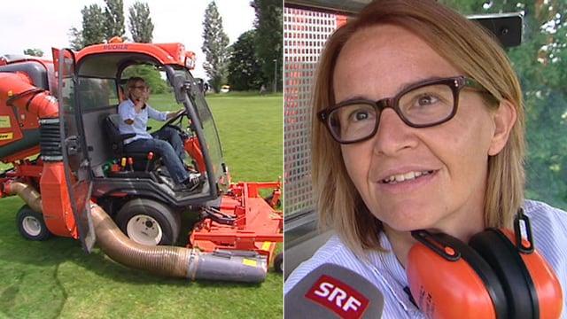 Abschiedsgeschenk mal anders: Sonja Hasler fährt Traktor - Unterhaltung - Schweizer Radio und Fernsehen - abschiedsgeschenk_mal_anders_sonja_hasler_faehrt_traktor%401x